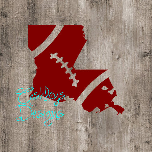 Louisiana Football State SVG File