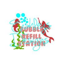 Bubble Refill Station Mermaid Ocean Scene SVG File