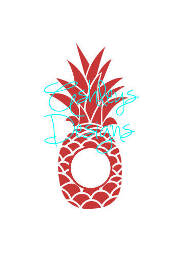 Pineapple Monogram SVG File