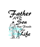 Father and Son Best Friends for Life SVG File