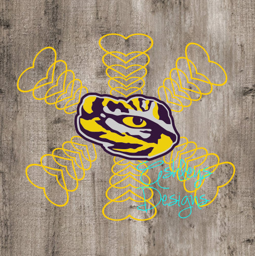 LSU Tiger Eye Heart SVG File