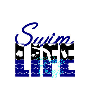 Swim Life SVG File