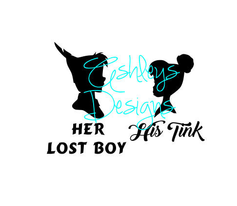 Her Lost Boy His Tink Tinkerbell Peterpan SVG File