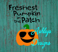 Freshest Pumpkin in the Patch Halloween SVG File