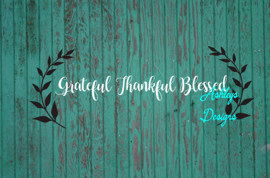 Grateful Thankful Blessed Thanksgiving Fall SVG File