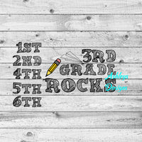 1st 2nd 3rd 4th 5th 6th Grade Rocks School SVG File
