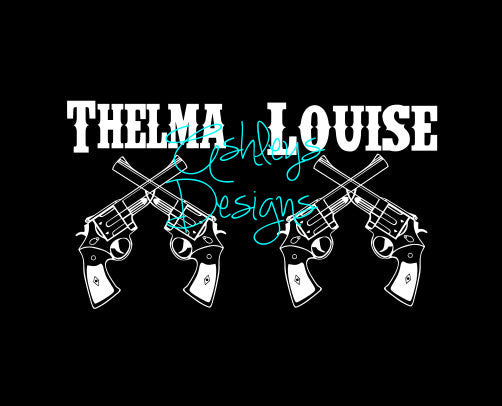 Thelma and Louise Guns SVG File