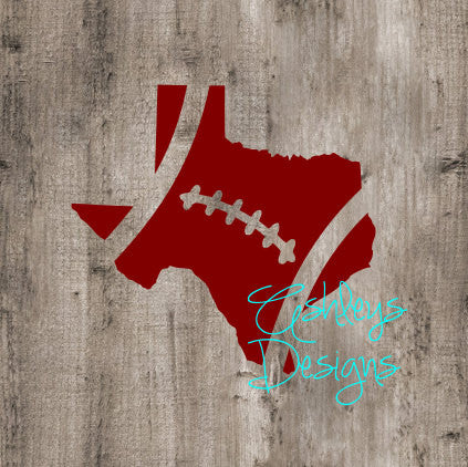 Texas Football State SVG File