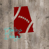 Alabama Football State SVG File