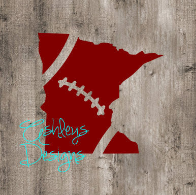 Minnesota Football State SVg File