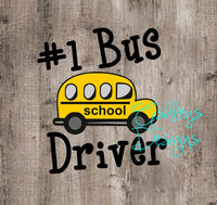 Number 1 One Bus Driver School SVG File