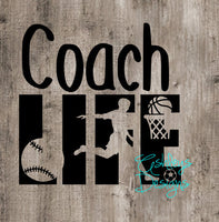 Coach Life SVG File