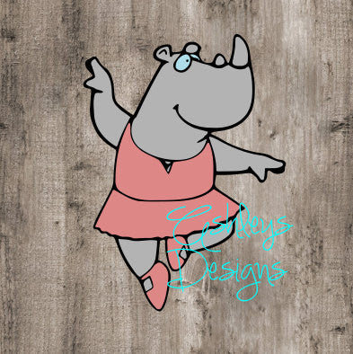 Rhino in a Tutu SVG File
