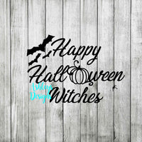 Happy Halloween Witches SVG File