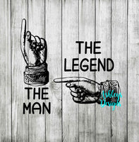 The Man The Legend Pointing Finger SVG File