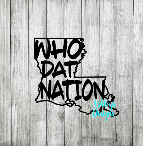 Louisiana Who Dat Nation State SVG File