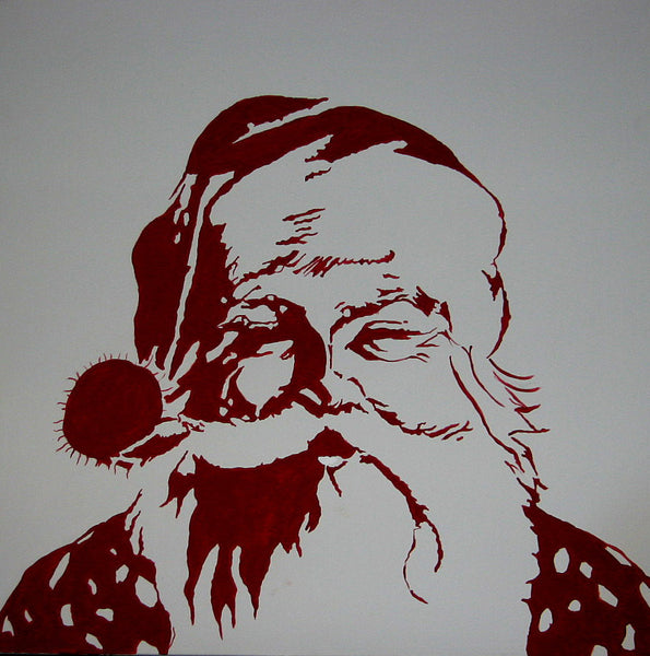 Santa Claus Stencil Silhouette SVG Cutting File
