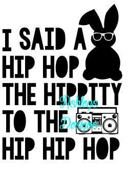 Hip Hop Bunny Easter SVG