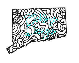 Connecticut State Paisley Design Svg File