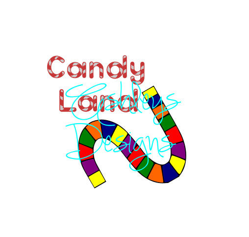 Candy Land Logo Board game SVG File