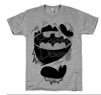 Batman Rip Ripping through Shirt SVG File