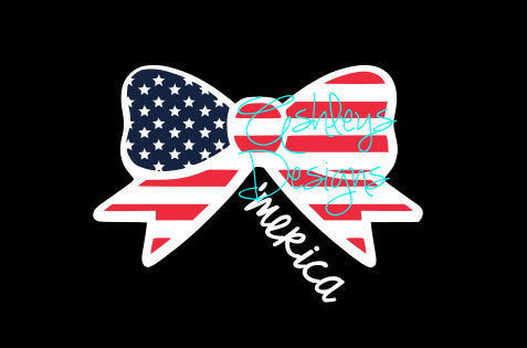 American Flag Bow Merica Svg File