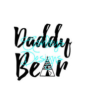 Daddy Bear TeePee SVG File