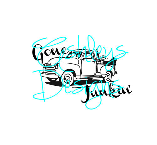 Gone Junkin' Chevy Truck SVG File
