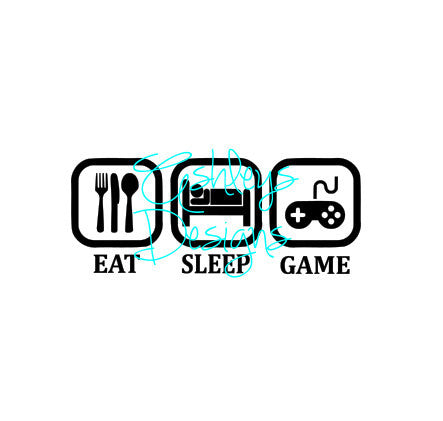 Eat Sleep Game SVG File