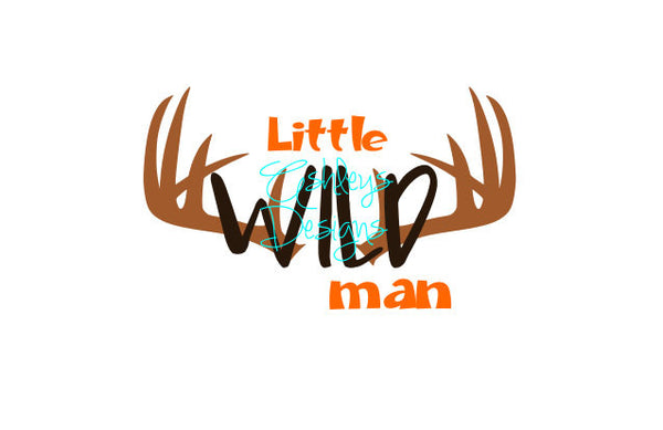 Little Wild Man Antler SVG File