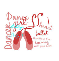 Dance Girl Ballet Word Art SVG File