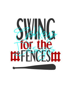 Swing for the Fences Baseball SVG File