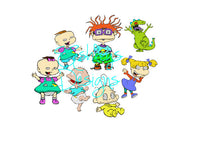 Tommy Angelica Chucky Rugrats Crew Lot Bundle SVG FIle