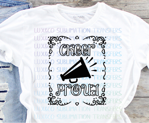 Cheer Proud Sublimation Transfer