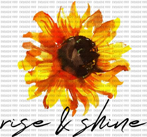 Rise and Shine Sunflower Sublimation Transfer