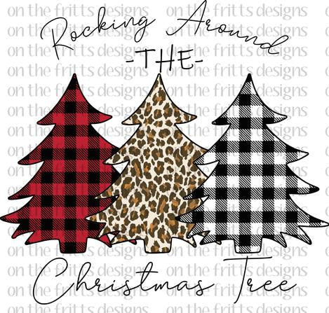 Rocking Around the Christmas Tree Sublimation Transfer