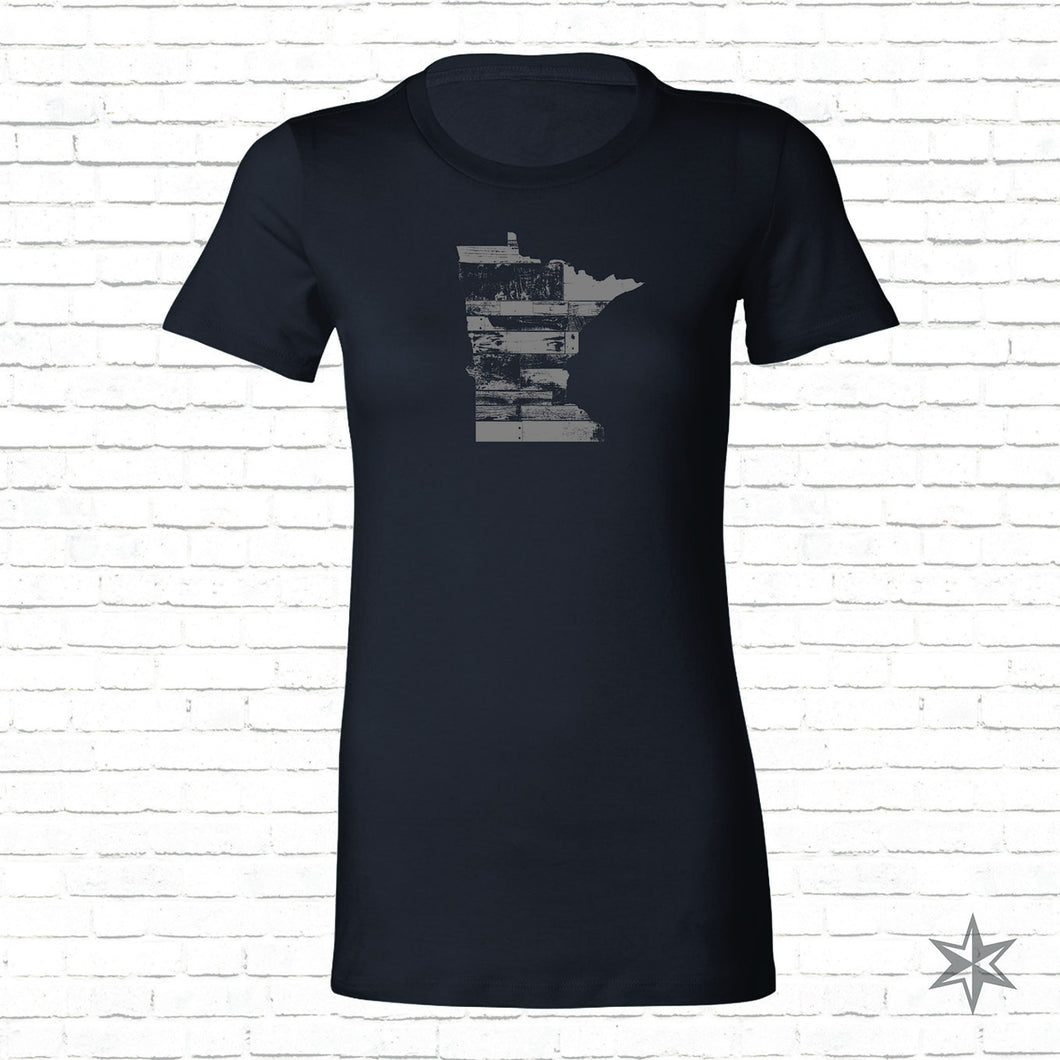 Womens MN Reclaimed Wood T-Shirt