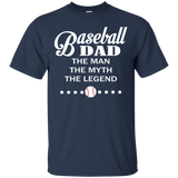 Baseball DAD The Man The Myth The Legend T-Shirt & Hoodie