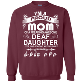 ASL - Proud Mom Of Awesome Deaf Daughter T-Shirt & Hoodie