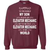 Elevator Mechanic - My Son Is Elevator Mechanic And Is My World T-Shirt & Hoodie