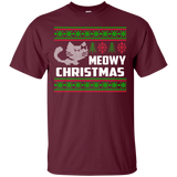Meowy Christmas T-Shirt & Hoodie Ugly Christmas Sweaters