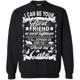 Cat - Friend Or Nightmare Depends How Treat My Cats T-Shirt & Hoodie