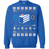 The Christmas Cake Is A Lie Sweatshirt Shirts Ugly Christmas Sweater