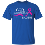 Breast Cancer - God Gives Hardest Battles To Toughest Soldiers T-Shirt & Hoodie - SunGift.Co