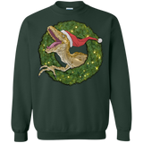 Velociraptor and Christmas Wreathe Shirts Ugly Christmas Sweater - SunGift.Co