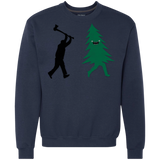 Funny Christmas Tree Hunted by lumberjack (Funny Humor) Shirts Ugly Christmas Sweater - SunGift.Co