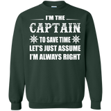 Captain - Assume Captain Is Always Right T-Shirt & Hoodie