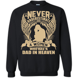 Dad - Women Has Dad In Heaven T-Shirt & Hoodie