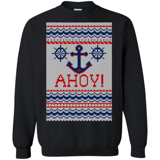 Ahoy! Nautical Greetings Shirts Ugly Christmas Sweater - SunGift.Co