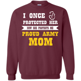 Army Mom Pride - I Once Protected Her Now She Protects Me T-Shirt & Hoodie